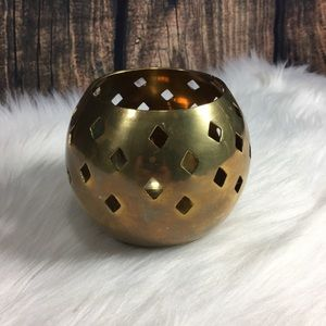 Other - Brass Gold Round Candle Holder